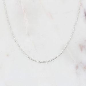 Glitzerkette Armband 925 Silber