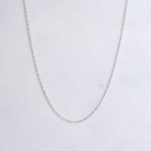 Diamantierte Silberkette