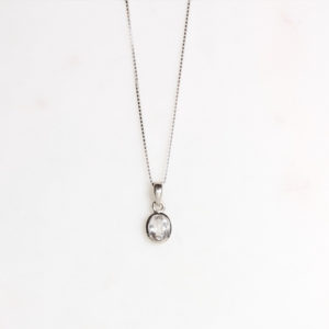 Bergkristall Kette Silber
