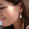 Regenbogenmondstein Ohrringe Tropfen