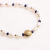 Handgemachte Perlenkette Goldene Schnecke