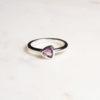 Amethyst Ring Triangel Silber