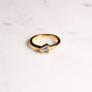 Triangel Ring Blautopas Gold