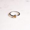 Citrin Ring Triangel Silber