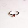 Granat Ring Triangel Silber