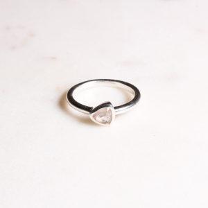 Rosenquarz Ring Silber