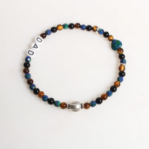 Armband Azurit Tigerauge Onyx