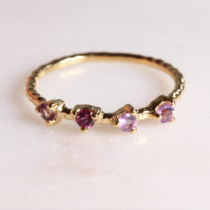 Amethyst Granat ring Gold