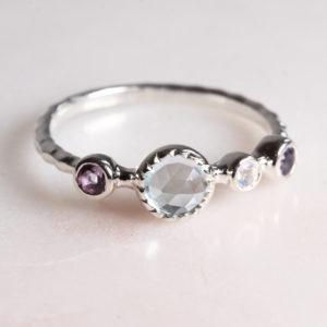 Ring Silber Topas