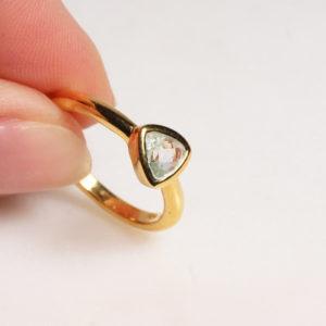 Ring Triangel Grünquarz
