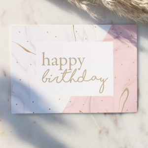 Postkarte Happy Birthday Dots