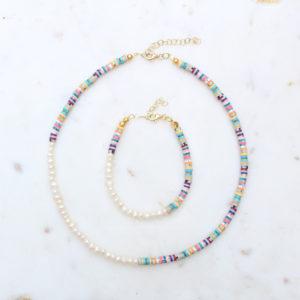 Katsuki & Pearls Kette und Armband