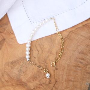 Figaros Pearls gold Armkettchen
