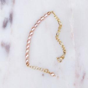 Figaros Pearls Peach gold Armkettchen
