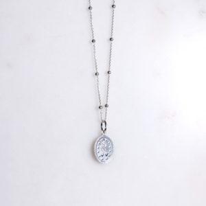 Madonna Kugelkette Silber