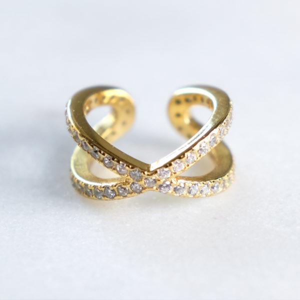 Earcuff Gold Zirkonia
