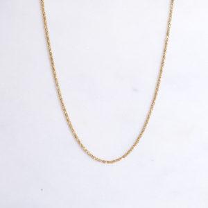 Diamantierte Kette 925 Silber vergoldet