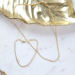 Diamattiertes Armkettchen und kette 925 Silber vergoldet