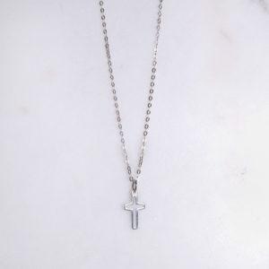 Kreuzkette Silber