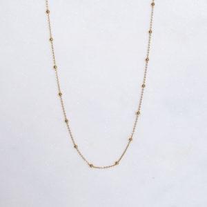 Kugelkette 925 Silber vergoldet