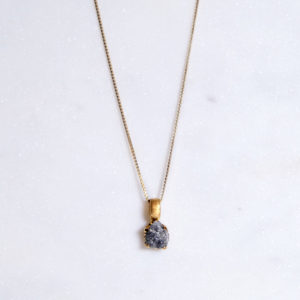 Rohdiamant Kette gold