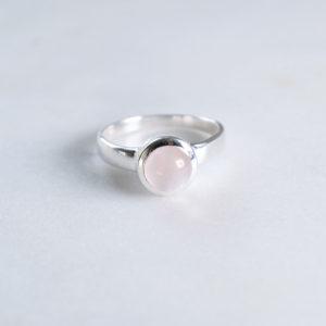 Rosenquarz Ring 925 Sillber