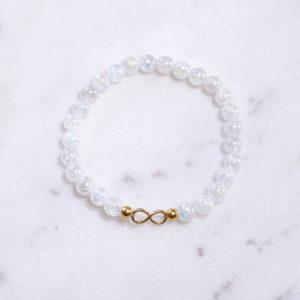 Bergkristall Armband Infinity