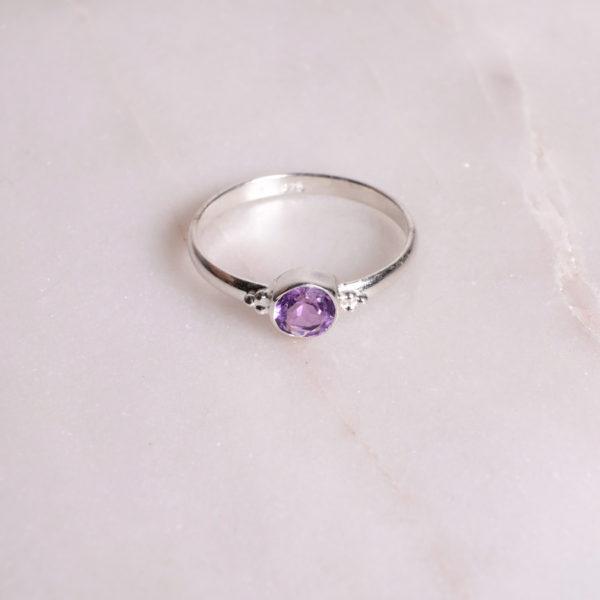Dots Amethyst Ring 925 Silber