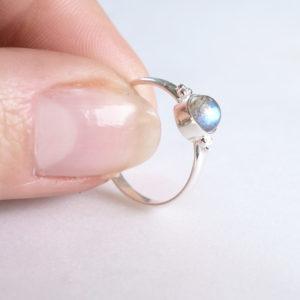 Dots Labradorit Ring 925 Silber