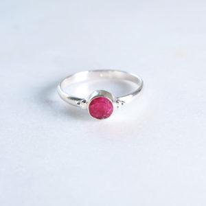 Dots Rubin Ring 925 Silber