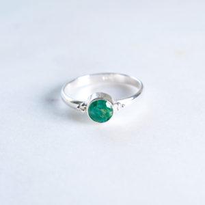 Dots Smaragd Ring 925 Silber