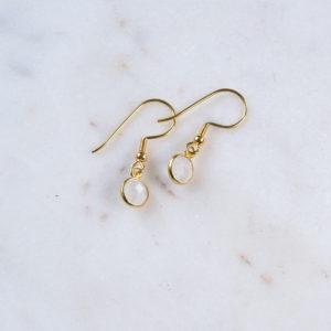 Ohrhänger Mondstein Gold