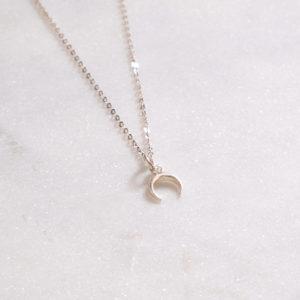 Ankerkette Mondsichel Silber