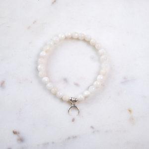 Mondstein Armband Mondsichel Silber