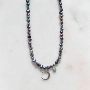 Perlenkette Moonparty 925 Silber