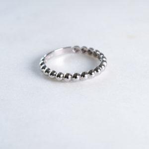 Kugelring Silber Bold
