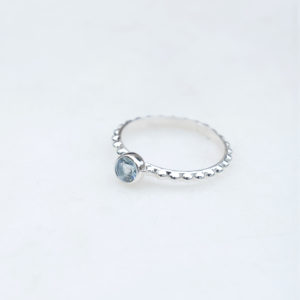Silberring Dotted 925 Silber Topas