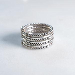 7reihiger Ring 925 Silber
