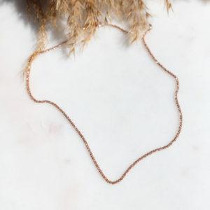 Diamantierte Glitzerkette Roségold
